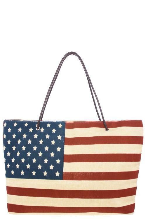 AMERICAN FLAG BURLAP TOTE BAG   Patriotic   Pinterest