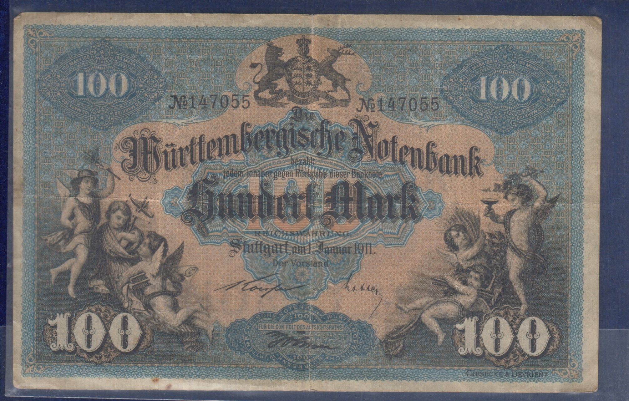 Kingdom Of Wurttemberg German State 100 Mark 1911 Www Coinstamp In Marks Banknote Collection Vintage World Maps