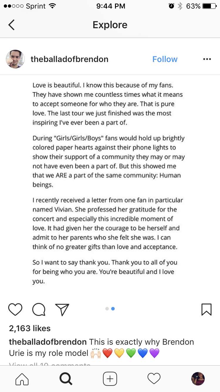 Brendon uries love letter to the lgbt community i love this brendon uries love letter to the lgbt community i love this human so much aljukfo Choice Image
