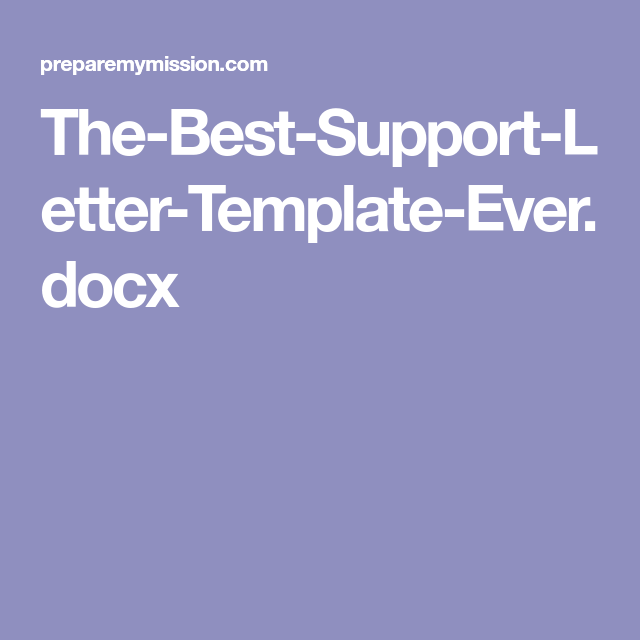 the best support letter template everdocx