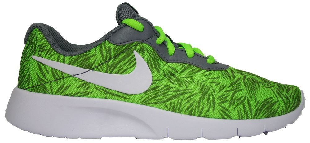 in stock better uk cheap sale NIKE TANJUN PRINT Womens 8.5 (7Y) Electric Green Tropical ...