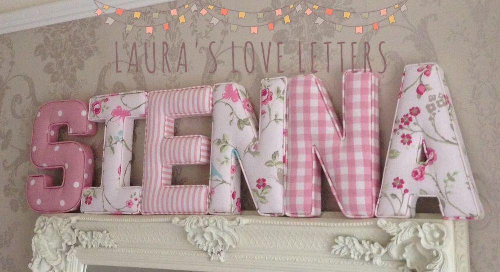 Fabric Letter Wall Art Handmade Padded