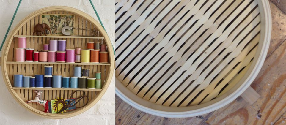 Bamboo steamer shelf shelving pinterest steamers repurpose learn how to make this simple bamboo steamer shelf with paul lowe brought to you by mrs do it yourself projects solutioingenieria Image collections