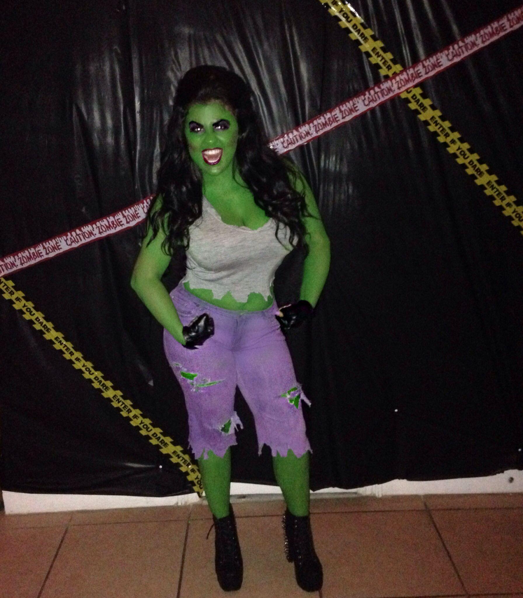 She Hulk Homemade Costume!   Halloweeeny*   Pinterest ...  She Hulk Homema...