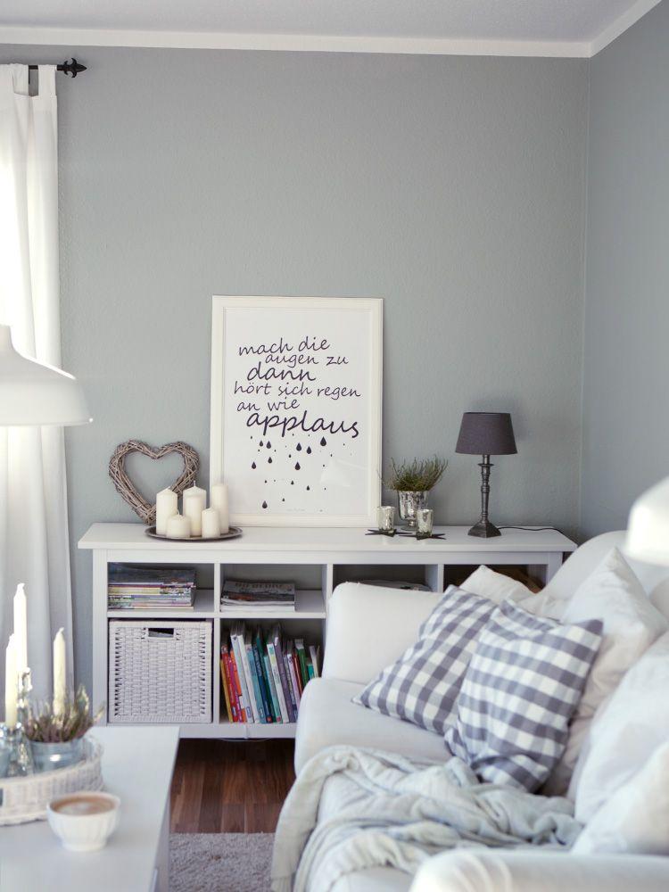 Wir streichen die blöde gelbe Wand \u2013 eine Wochenend-Aktion mit - wohnzimmer streichen grau ideen