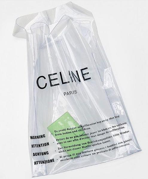 Celine plastic bag | 포장, 쇼핑백