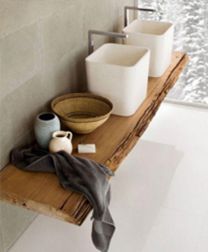 Mooie houten plank voor in de badkamer home pinterest guest toilet toilet and porch - Hout voor de badkamer ...