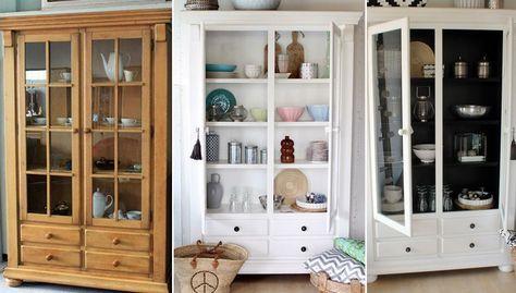 Möbel streichen » Von Eiche Rustikal zu Schwarz-Weiß Shabby - alte küche streichen