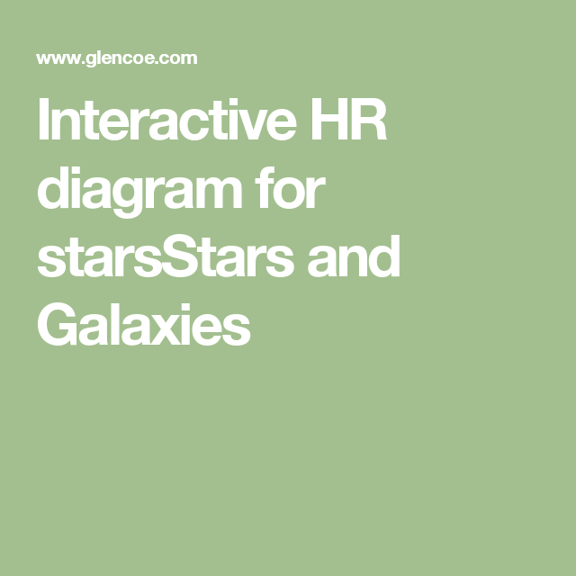 Interactive hr diagram for starsstars and galaxies earth science interactive hr diagram for starsstars and galaxies ccuart Gallery