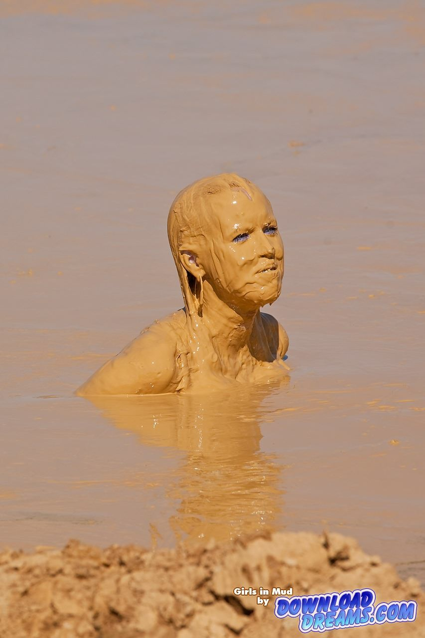 Video of naked woman covered in mud