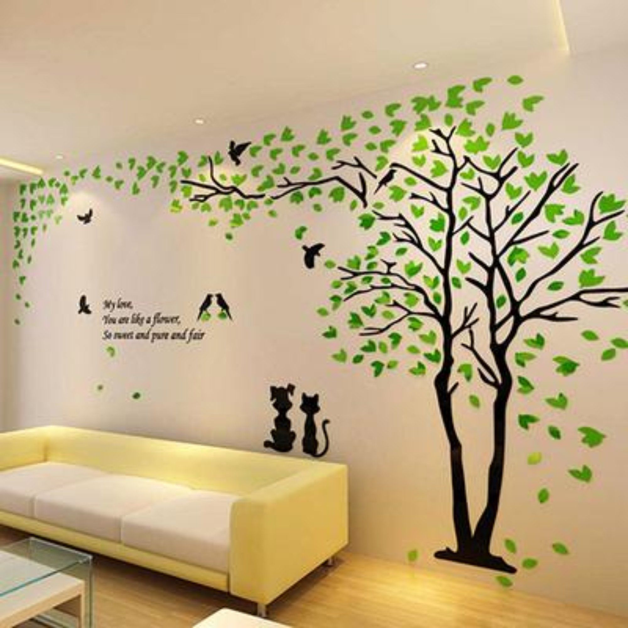 Couple Tree 3d Acrylic Stereo Creative Wall Stickers Living