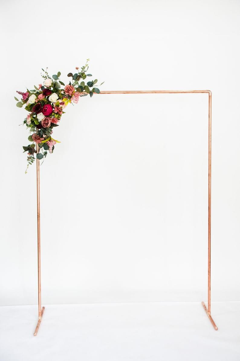 Wedding Backdrop/ Copper Backdrop Stand/ Ceremony Backdrop/ Wedding Arch #ceremonyideas