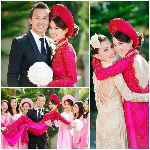Vietnamese Wedding Gown: Ao Dai For Engagement Ceremony