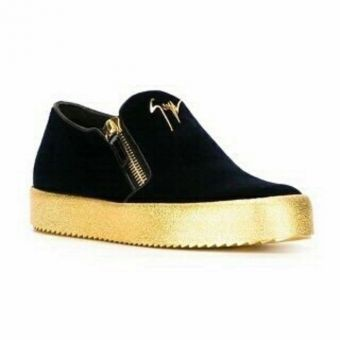 871a57eefb117 Giuseppe Zanotti Men's Sneakers With Gold Sole - Black | Collections ...