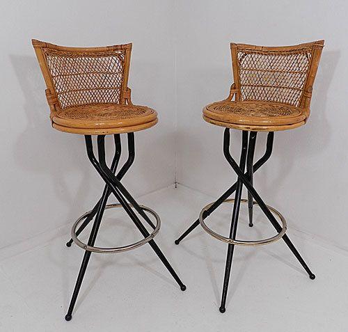 Rattan Chair Metal Legs: Set Of Two Wicker Chair Rattan Metal Spider Legs Swivel