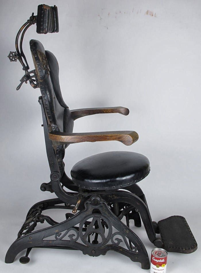 ANTIGUA SILLA DE BARBERO  ANTIQUE  Barber chair Chair y