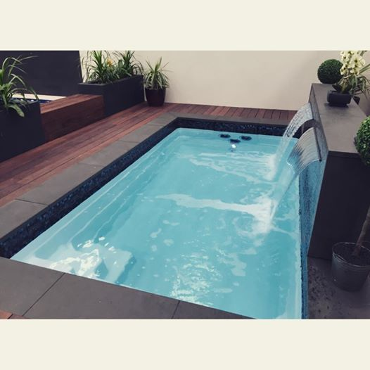 Our Sabre Plunge Pool Display At Lynbrook Is Looking Fab Today Worth Visiting To See Our Brand New Swim Spa And Plunge Swim Spa Backyard Spa Outdoor Swim Spa