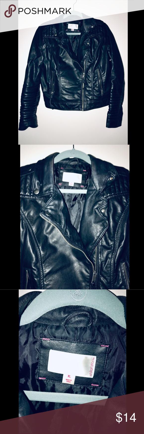 Target Xhilaration Black Faux Leather Jacket Black Faux Leather Jacket Faux Leather Jackets Clothes Design [ 1740 x 580 Pixel ]