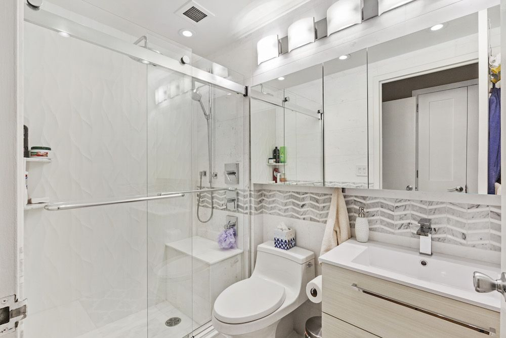 A Home Improves the View, Inside and Out | Small white bathrooms ...