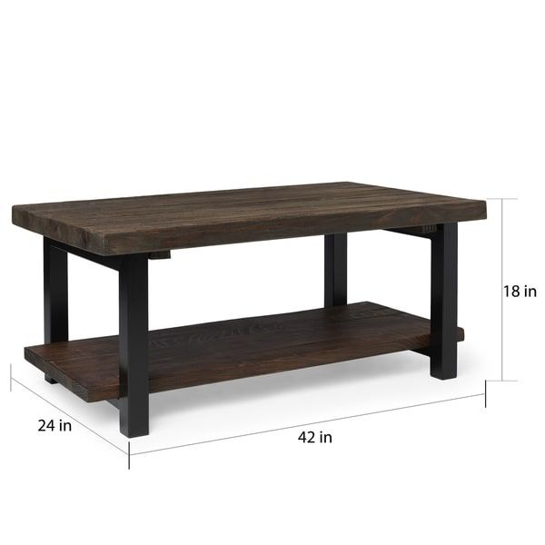 Alaterre Pomona Reclaimed Wood And Metal 42 Inch Coffee Table