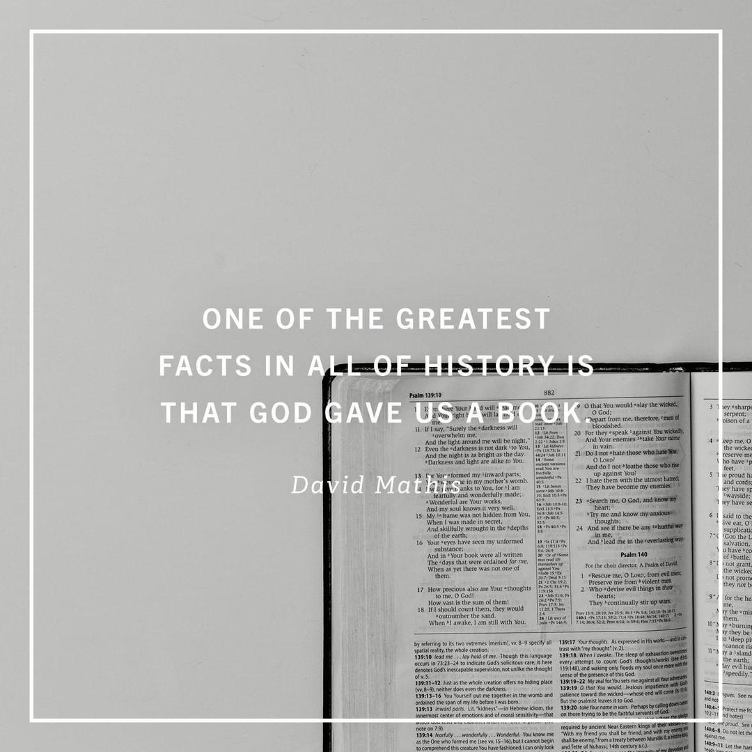 23 9 Ezer Kedveles 60 Hozzaszolas Desiring God Desiringgod Instagram Hozzaszolasa God Wrote A Book And Gave It To Us Let Christian Quotes Facts Books