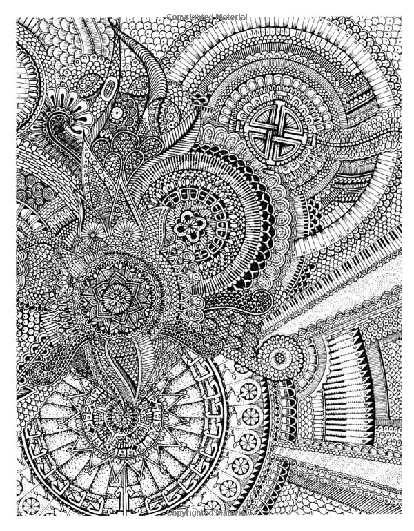 Color Me Crazy Insanely Detailed Creations To Challenge Your Skills And Blow Your Mind Peter Deligdisch Coloring Books Coloring Book Art Mandala Art Lesson