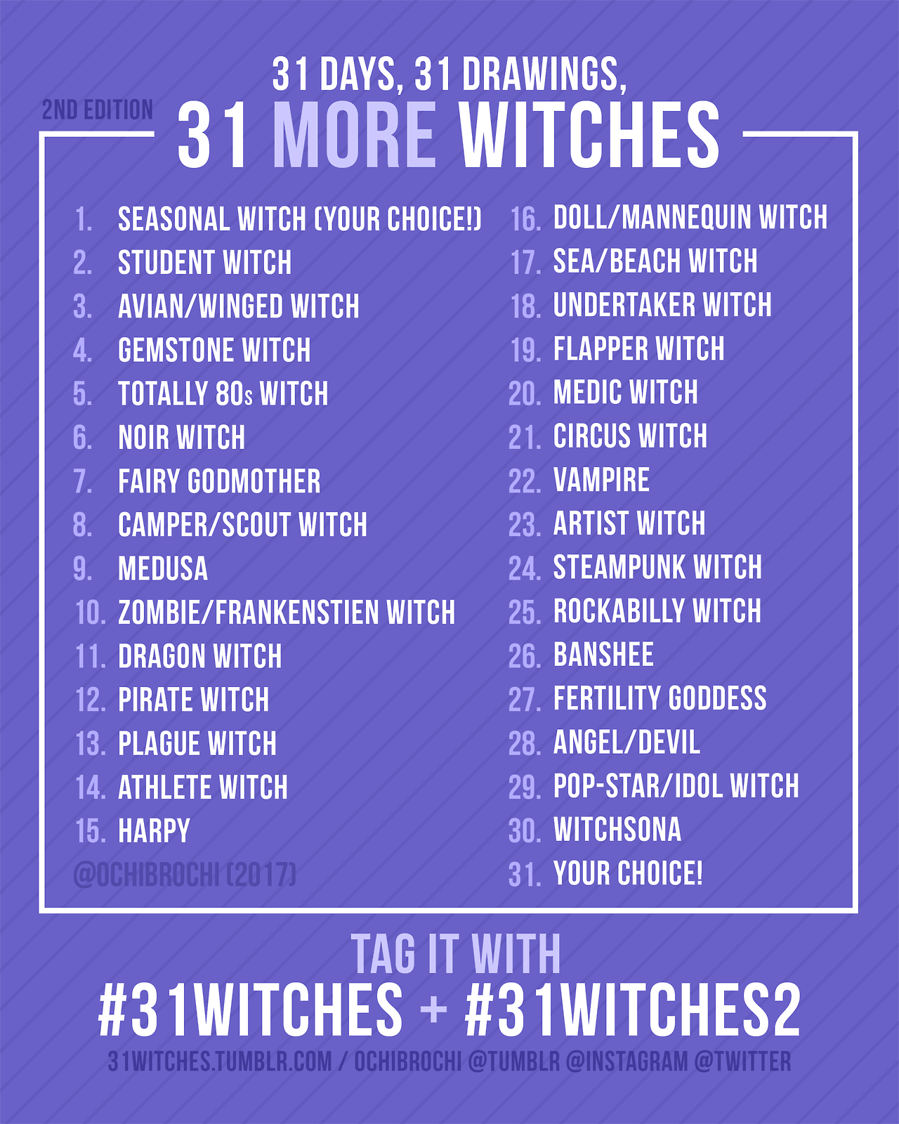 Thank You For Everyone S Warm Response From Last Year S 31witches
