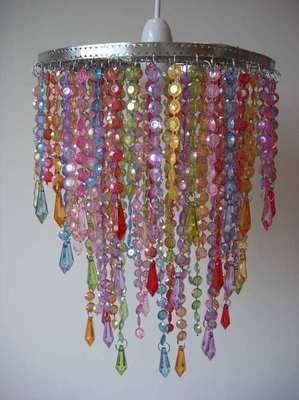 New multicolour rainbow beaded ceiling chandelier lampshade light new multicolour rainbow beaded ceiling chandelier lampshade light lamp shade aloadofball Choice Image