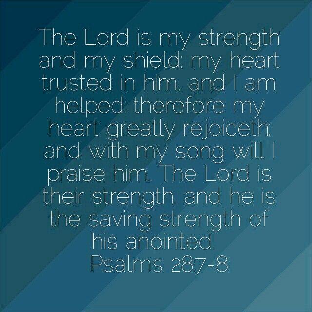Psalms 28:7-8