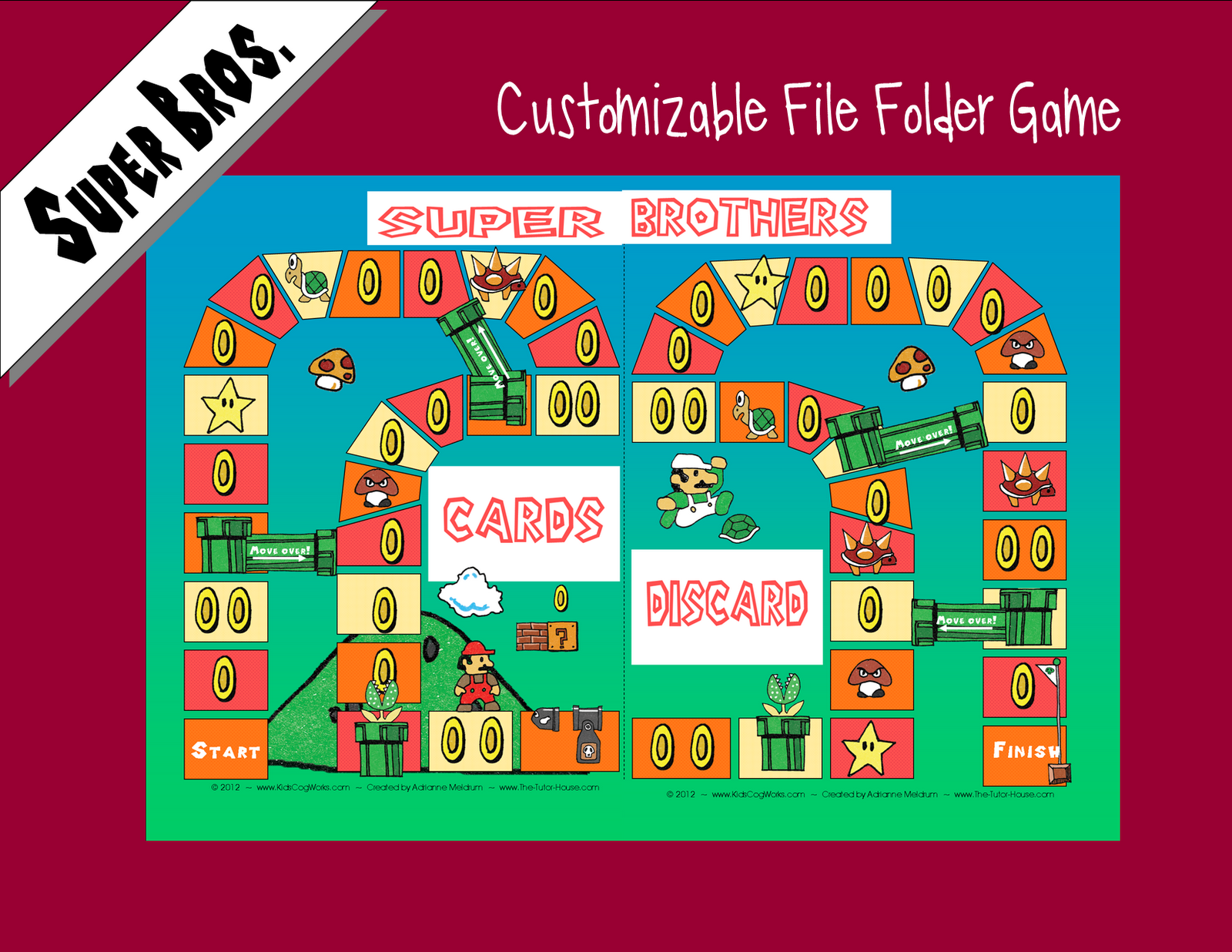 2 The Tutor House Super Brothers File Folder Game