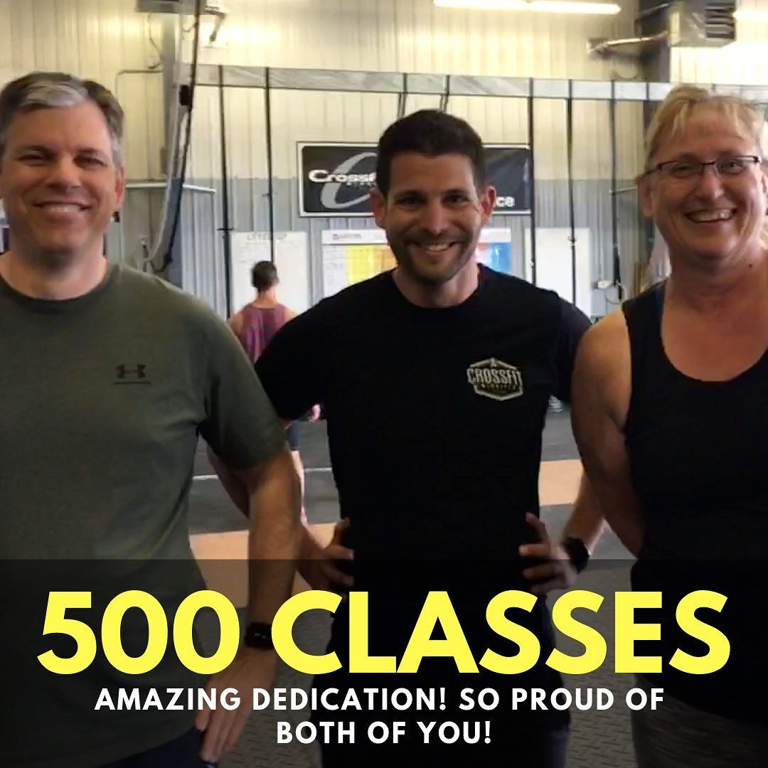500 classes for Tyson and Betty, 2 of our most dedicated members! 🏅Betty attends classes almost ever...