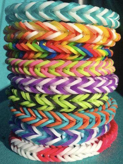 Rainbow Loom Bracelets Twistz Bandz Elastic Fishtail Rubber Bands (All Money Towards Canadian Diabetes Association CDA)