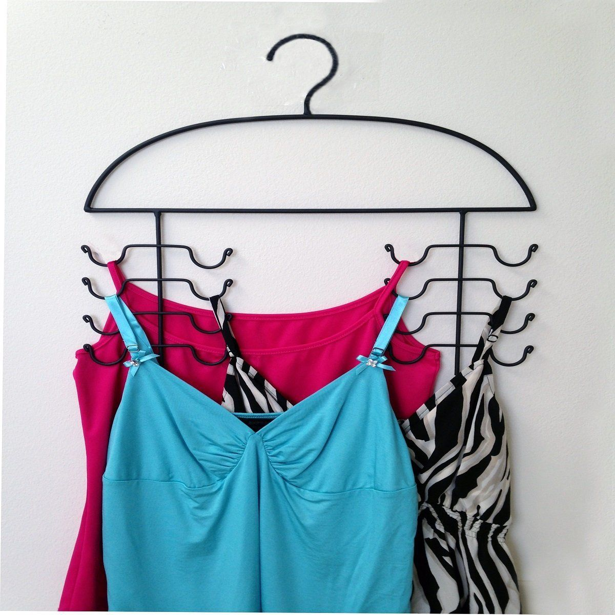 2 TANK TOP HANGERS SPORT CAMI BRA STRAPPY DRESS BATHING SUIT CLOSET ORGANIZER
