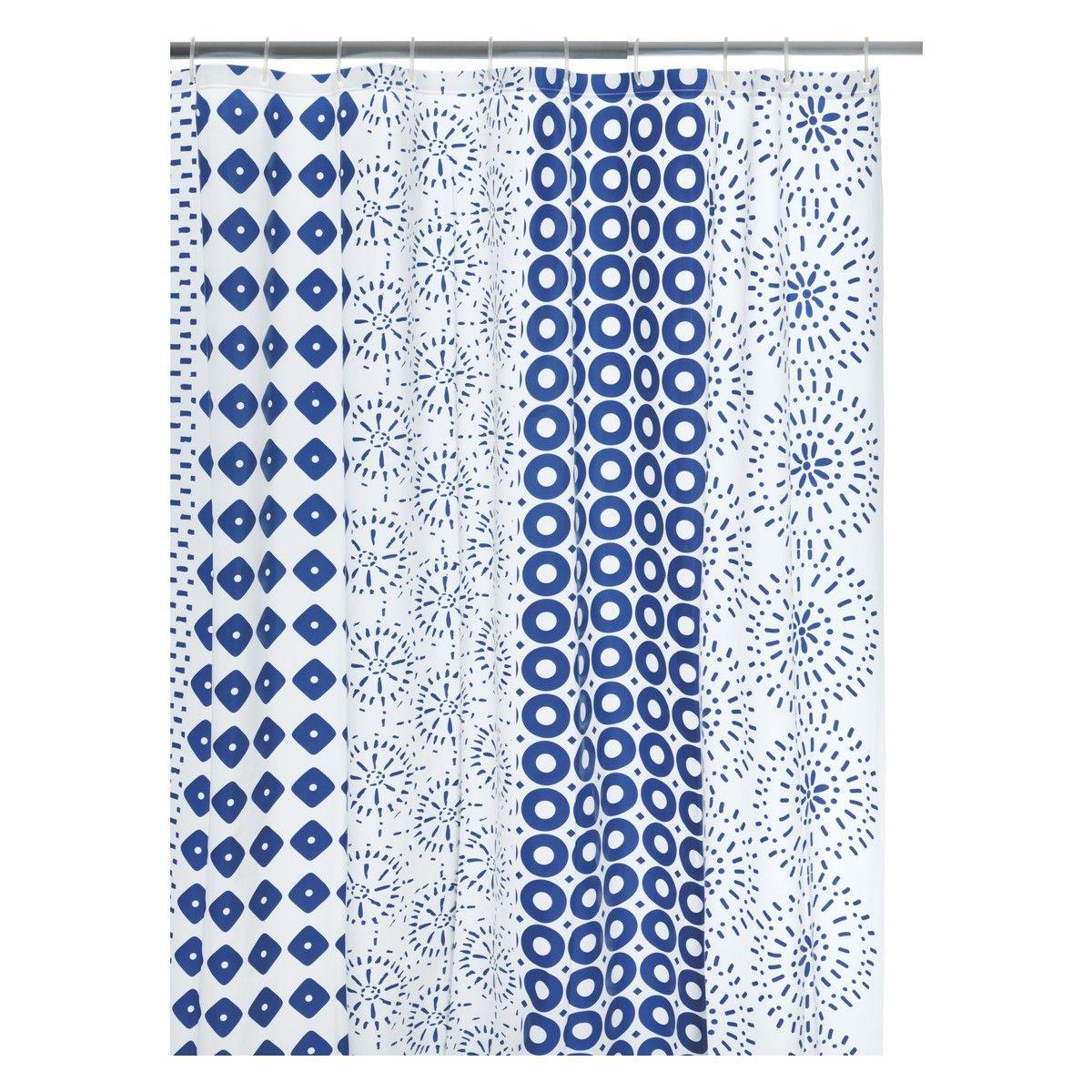 LUNDI Blue patterned shower curtain | Buy now at Habitat UK ...