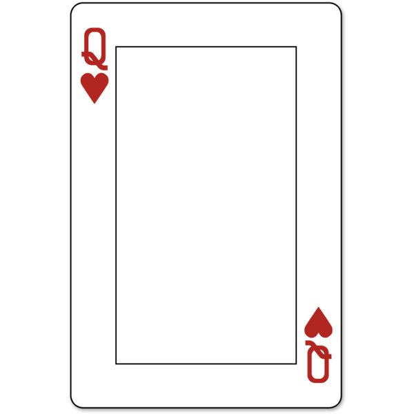 Playing Cards Jilbert Liked On Polyvore Featuring Frames Backgrounds Fillers Cards Borders Tex Printable Playing Cards Cards Business Card Template Word
