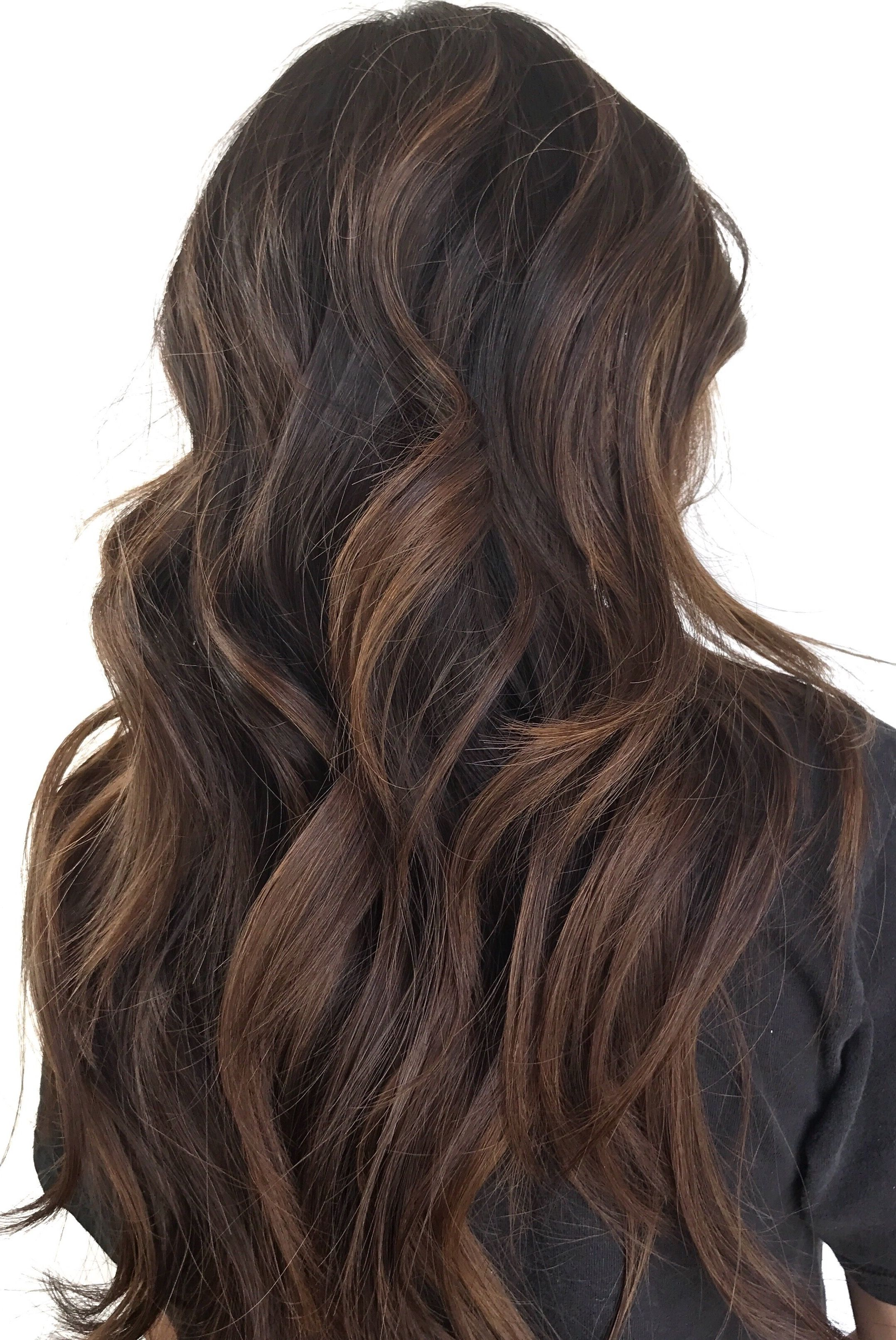Brown Balayage ; Warm Brown Tones; Long Hair Balayage ; Natural