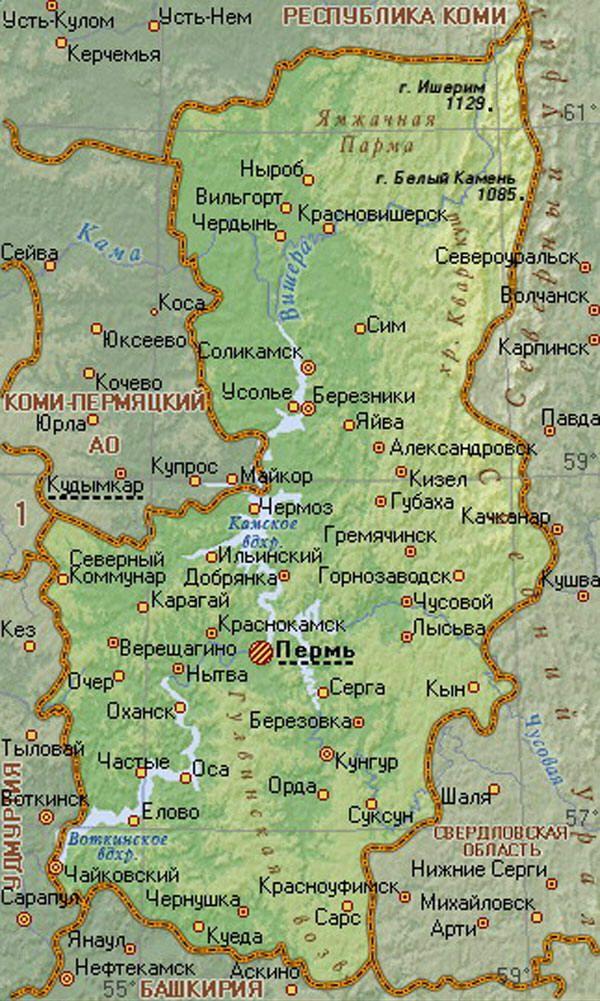 лайки, фото карта пермского края поселок кама они белого, желтого