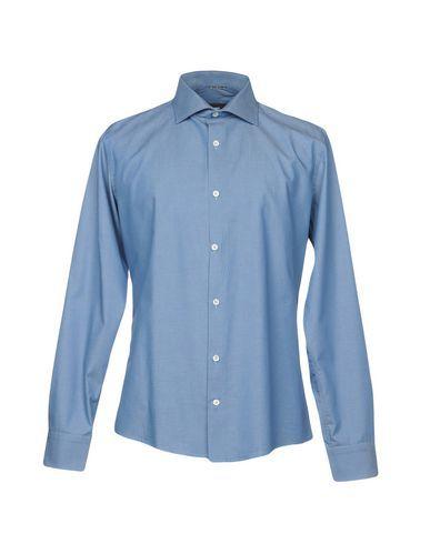 DANIELE ALESSANDRINI Men's Shirt Azure 16 ½ inches-neck