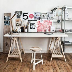 cr er un bureau atelier dans un petit espace atelier couture pinterest espaces minuscules. Black Bedroom Furniture Sets. Home Design Ideas