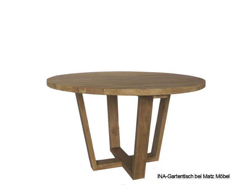 Ina Gartentisch Rund Altholz Gartentisch Tischplatte Rund Altholz
