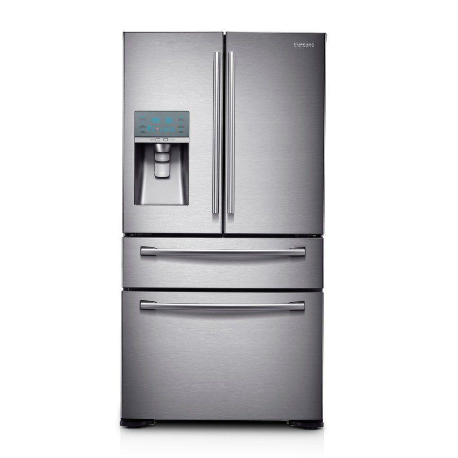 Shop Samsung Rf24fsedbsraa Na 235 Cu Ft French Door Refrigerator