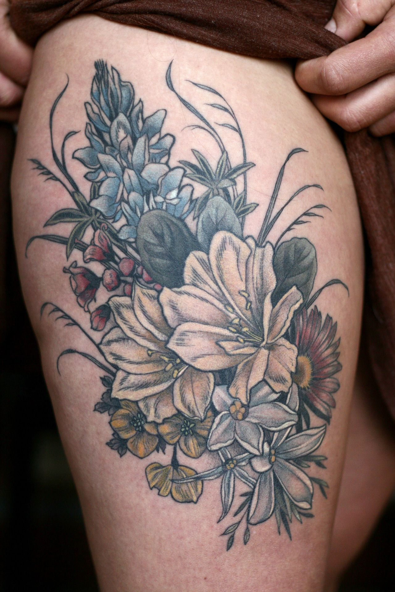 Healed Floral Bouquet By Alice Kendall Tattoos Pinterest