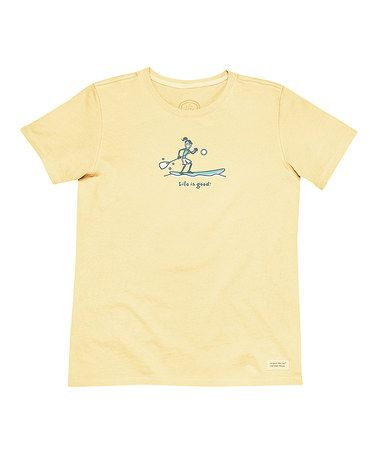 This Canary Yellow Jackie Paddle Board Crusher Tee is perfect! #zulilyfinds