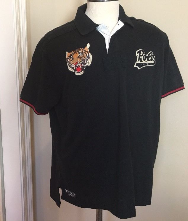 7ce9977f85 Polo Ralph Lauren Shirt Mens Sz XXL Black Tiger Head Patch Polo Football  2XL New #PoloRalphLauren #PoloRugby