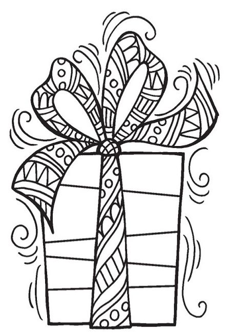 Stampendous Cling Mounted Rubber Stamp Gift Christmas Coloring Books Christmas Coloring Sheets Christmas Coloring Pages