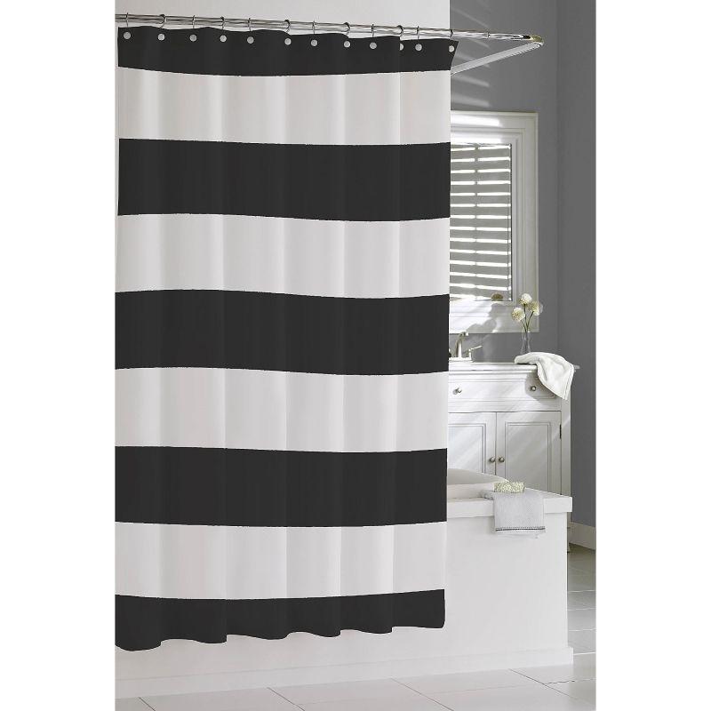 Hampton Stripe Shower Curtain By Kassatex 72 X 72 Striped