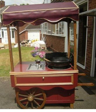 popcorn hair style our brand new roast chestnut cart available for hire 5942