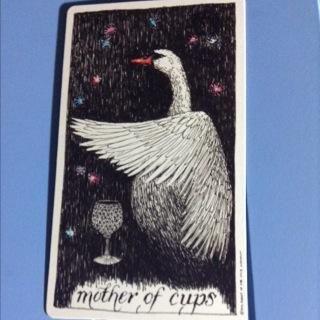 Mother of cups. The Unkonwn Tarot. Artist: Kim Krans.