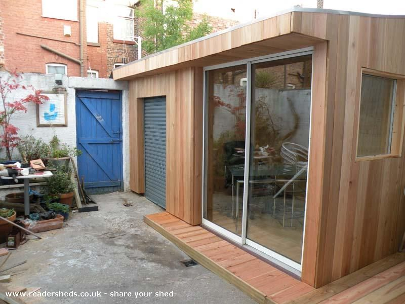 garden shed office. One Grand Designs Shed, Garden Office Shed From Liverpool, UK | Readersheds.co