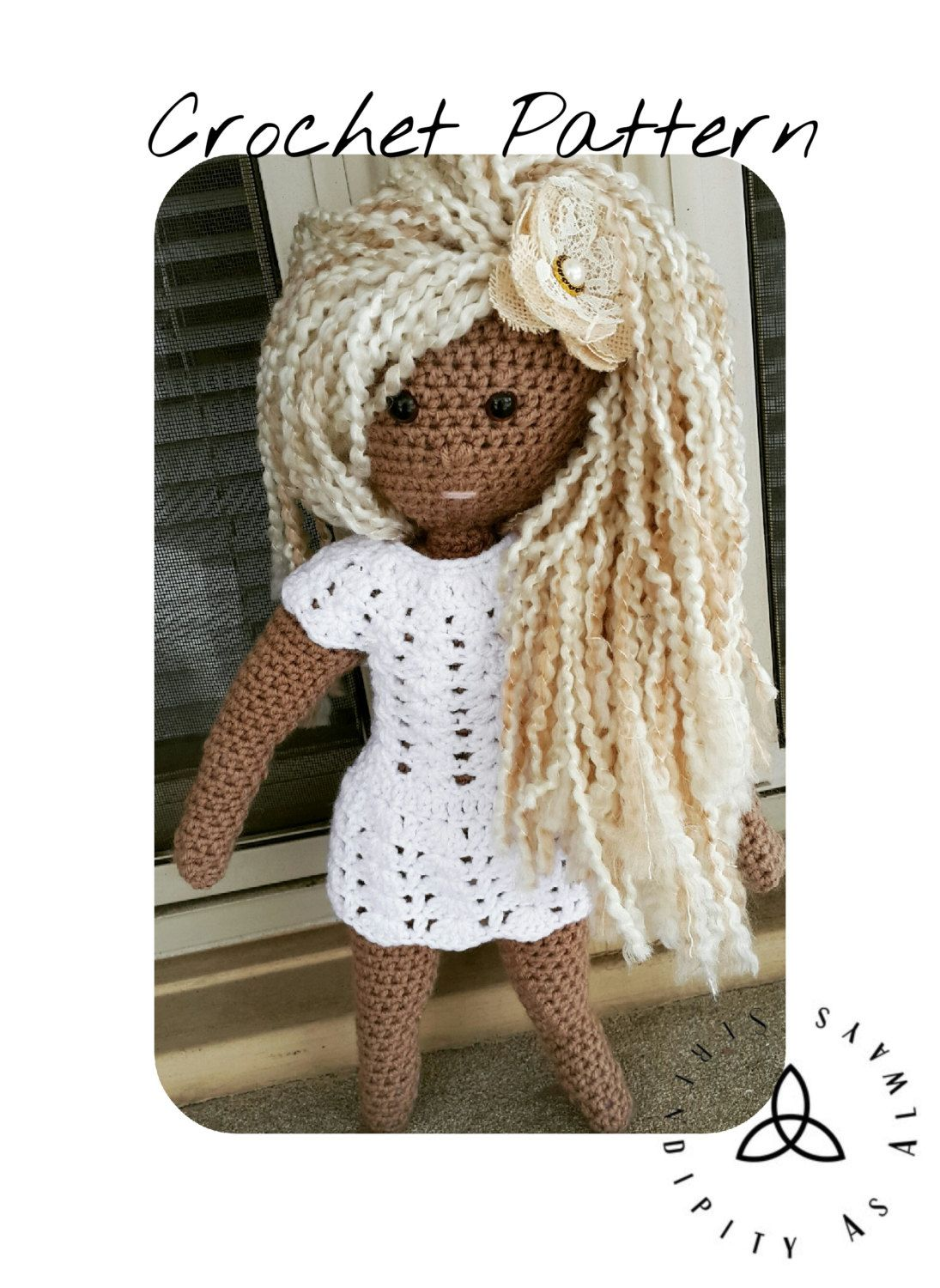 Crochet PATTERN | Goddess Doll Crochet Pattern | Amigurumi 18 inch ...